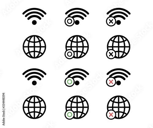 Obraz インターネット、ネットワークのアイコン/ピクトグラム/ビジネス - fototapety do salonu