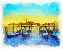 Venice, Italy - Watercolor Ill...