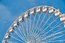 Ferris Wheel And A Plane. Lisb...
