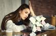 Freelance girl has many tasks, but no strength