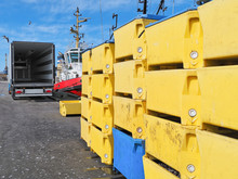 Fishing And Seafood Logistics Industry - Plastic Fish Crates And Refrigerated Chilled Truck