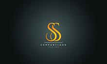 SS S Letter Logo Alphabet Desi...