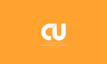 CU UC C U Letter Logo Alphabet...