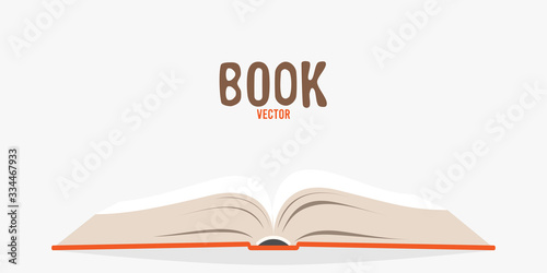 Covered opened book isolated. Vector illustration Canvas Print