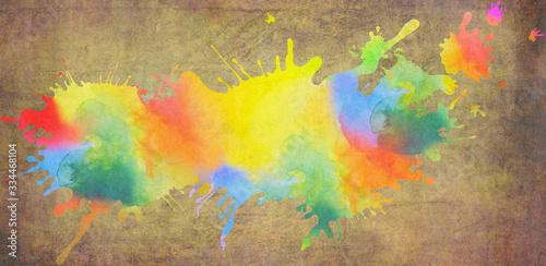 Fototapeta kleckse grafik farben bunt huntergrund
