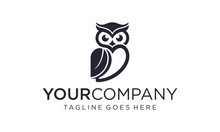 Simple And Creative Owl Logo D...