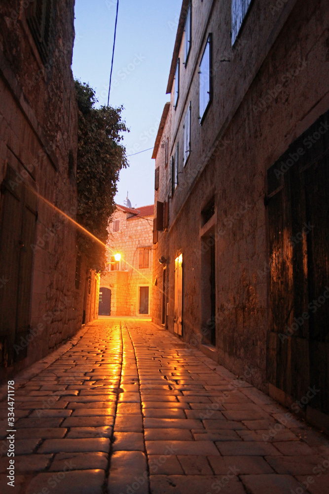 Old town of Stari Grad, Hvar island, Croatia