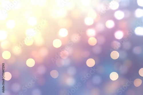 Fototapety, obrazy: Pink blue lilac gradient blur background decorated garland lights. Bokeh pattern. New Year shimmer illustration.
