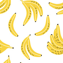 Fun Hand Drawn Bananas Seamles...