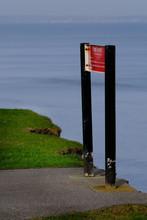 Fire Precaution Sign On Cliff ...