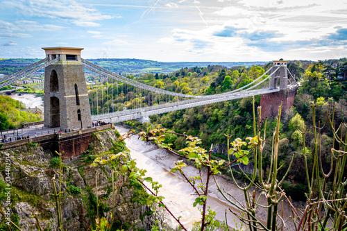 Fototapeta Clifton suspension bridge, Bristol, UK