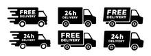 Fast Delivery Truck Icon. Vector Illustration