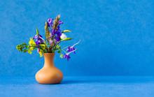 Wild Flowers Bouquet, Brown Cl...