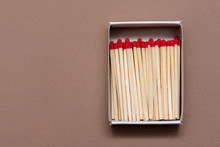 Matches In A Cardboard Box On ...