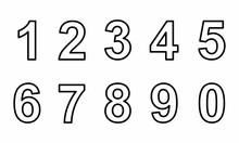 Outline Numerals Set