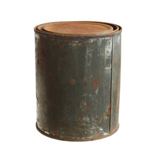 Rusty Can Closed (with Clipping Path) Isolated On White Background