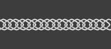 Realistic Silver Chain With Di...