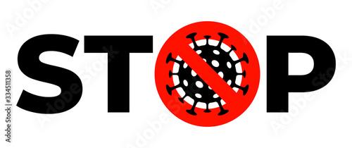 Obraz na plátně Stop coronavirus