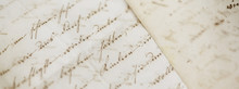 Closeup Of Old Handwriting; Vi...