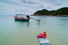 Boats With Floral Ribbons In C...