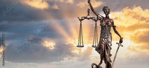 Canvastavla Silhouette Lady of Justice