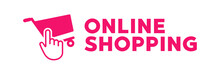 Online Shopping Logo. Vector Illustration