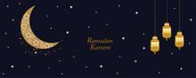Ramadan Night Gold Moon, Cresc...