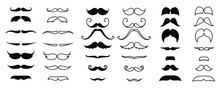 Black Moustaches Set Isolated ...