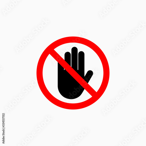 Photo no touch icon, do not touch vector