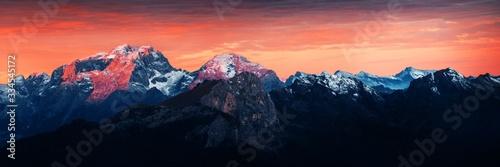Obraz na plátne Dolomites sunrise