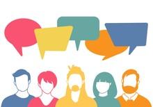 People Avatars With Speech Bub...