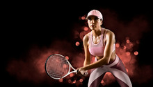 Female Tennis Player. Sports B...