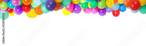 Papel de parede Set of different color balloons on white background