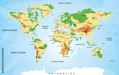 Fototapeta mapa świata   illustration-of-world-map-travel-agency-concept