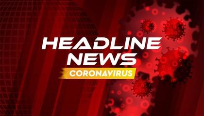 Headline news coronavirus banner background vector template.