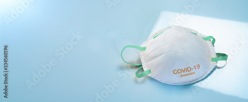 Fototapety, obrazy: Anti virus protection mask ffp2 standart to prevent corona COVID-19 infection