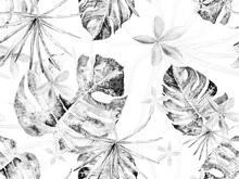 Orchid Seamless Pattern.