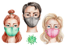 People In Medical Masks And Vi...