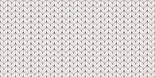 Knitted Realistic Seamless Background Of White Color. Knitting Vector Pattern. Vector Knit Texture For Background.