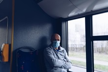 Man In Protective Medical Mask...