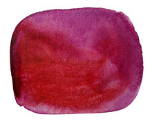 Red Watercolor Stain Rectangul...