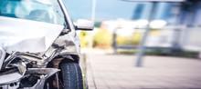 Car Crash Accident On Street, ...