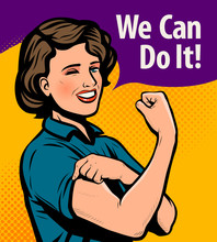 We Can Do It, Retro Poster. Re...