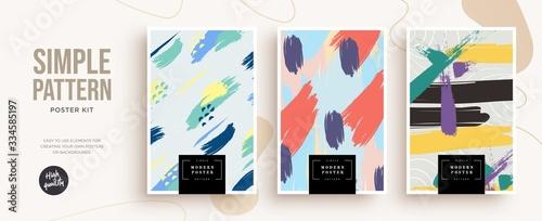 Set of trendy fashion cover templates Fototapet