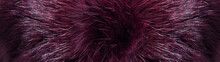Natural Fur. Plum Color Of Fur. Fur Pattern. Banner For The Site. Fur Texture