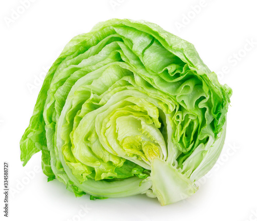 Cuadros en Lienzo Fresh iceberg lettuce on white background