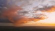 Sunset Bright Dramatic Sky. Scenic Colorful Sky At Sunset Dawn. Hyperlapse