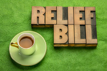 Relief Bill Word Abstract In W...