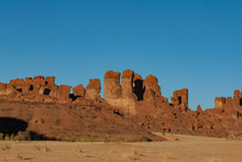 Natural Rock Formations, Sandstone Pilars, Chad, Africa