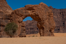 Natural Rock Formations In Form Of Arch Chad, Africa.